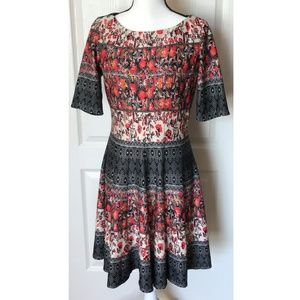 Julian Taylor Fit and Flare Floral Dress Size 12